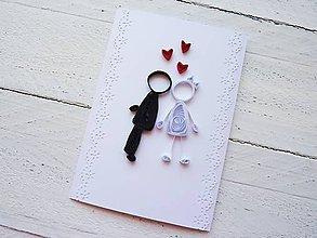 Papiernictvo - svadobná pohľadnica - 7030728_