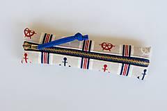 Taštičky - Drobný peračník v prírodnom štýle - námornícky - 7034228_