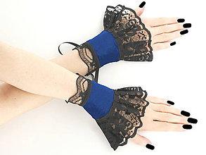 Náramky - Dámské modré náramky pre šaty alebo korzety 1120 - 7035962_