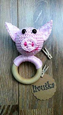Hračky - Hrkálka Pán Prasiatko - 7035778_
