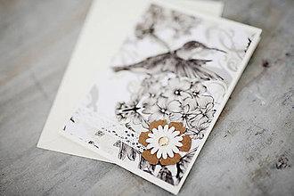 Papiernictvo - Scrapbook svadobná pohľadnica - 7035561_