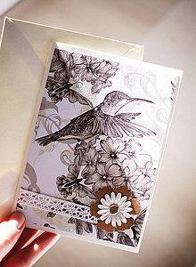 Papiernictvo - Scrapbook svadobná pohľadnica - 7035564_