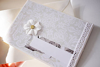 Papiernictvo - Scrapbook svadobná pohľadnica. - 7035570_