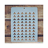 - Šablóna 9,5x12,5cm Trojuholníky - 7033823_