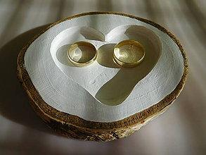 Prstene - vintage svadba/podložka pod svadobné prstene - 7033354_