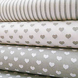 Textil - sivé pásiky, 100 % bavlna, šírka 140 cm, cena za 0,5 m - 7035516_
