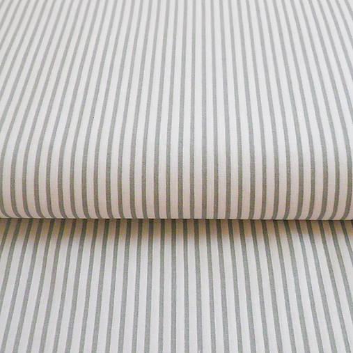 sivé pásiky, 100 % bavlna, šírka 140 cm, cena za 0,5 m