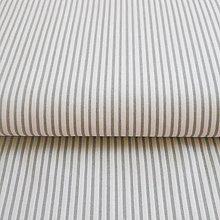 Textil - sivé pásiky, 100 % bavlna, šírka 140 cm, cena za 0,5 m - 7035512_