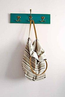 Veľké tašky - Casual... obojstranná... #18... Jeansovina & kožené ramienka - 7033136_
