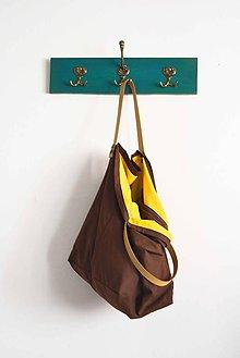 Veľké tašky - Casual... obojstranná... #19...  & kožené ramienka - 7033162_