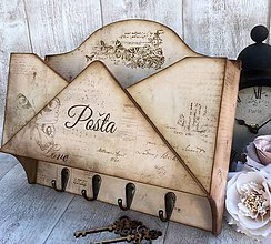Krabičky - Obálka na poštu a kľúče  - 7035712_