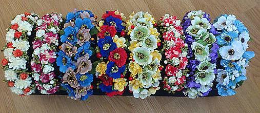 Ozdoby do vlasov - Čelenka kvetinová - 7033673_