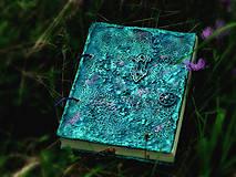 Papiernictvo - Tyrkysový sen - umelecký diár,kronika,zápisník,sketchbook - 7033521_