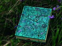 Papiernictvo - Tyrkysový sen - umelecký diár,kronika,zápisník,sketchbook - 7033522_