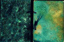 Papiernictvo - Tyrkysový sen - umelecký diár,kronika,zápisník,sketchbook - 7033523_