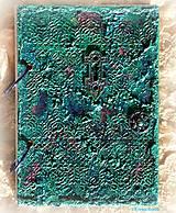Papiernictvo - Tyrkysový sen - umelecký diár,kronika,zápisník,sketchbook - 7033543_
