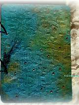 Papiernictvo - Tyrkysový sen - umelecký diár,kronika,zápisník,sketchbook - 7033549_