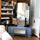 Nábytok - Toaletka Modrý mak :) - predaná - 7033887_
