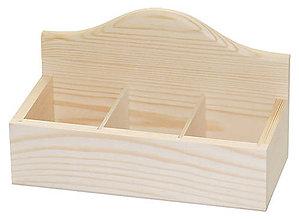 Polotovary - Otvorená krabička s 3 priečinkami masív - 7034607_