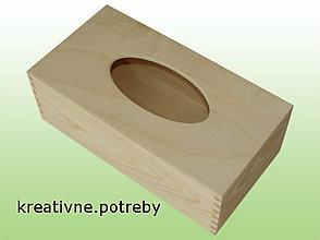 Polotovary - Krabica na vreckovky obdĺžnik z masívu, ihneď - 7035413_
