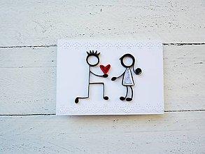 Papiernictvo - svadobná pohľadnica - 7033103_