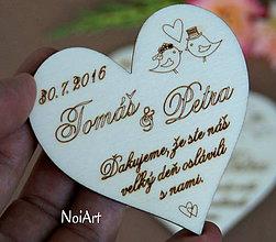 Darčeky pre svadobčanov - Magnetky pre svadobných hostí Ďakujeme... - 7038215_