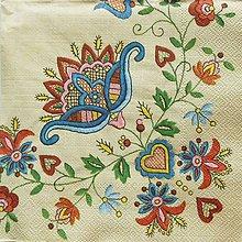 Papier - S775 - Servítky - folklorny motív, výšivka, ľudový - 7038385_