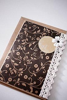 Papiernictvo - Scrapbook pohľadnica natur *1 - 7037609_