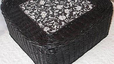 Košíky - Kôš-BLACK - 7036972_