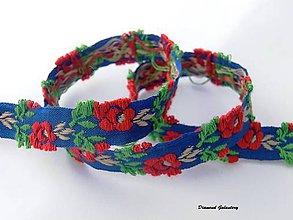 Galantéria - Krojová stuha 3D - modročervená - 7038004_