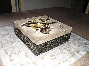Krabičky - krabička s ružami - 7038103_