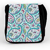 Iné tašky - taška na plece tyrkysová ornament - 7039114_