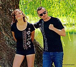 Tričká - Dámske a pánske tričká, párové, folk VYBÍJANÔ - 7037026_