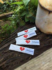Darčeky pre svadobčanov - Svadobné žuvačky Červené srdiečko - 7037122_