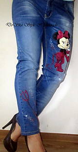Nohavice - Maľované jeansy- rifle.... - 7038933_