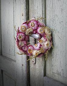 Dekorácie - Malý venček na dvere 02 - 7038585_