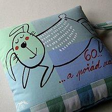 Úžitkový textil - 60 ... A POŘÁD ZAJDA - polštář - 7037654_