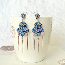 Náušnice - Exotic blue (skladom) - 7037762_