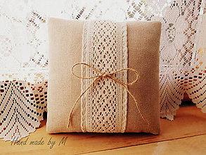 Prstene - Svadobný vankúšk - 7038749_