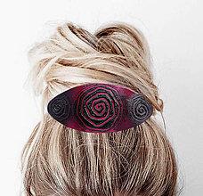 Ozdoby do vlasov - Cyklámenová - 7039260_