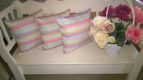 Úžitkový textil - Farebno cik -cak - 7040163_