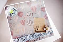 Papiernictvo - Narodeninová scrapbook pohľadnica - 7040958_
