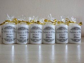 Svietidlá a sviečky - Svadobné darčeky - sviečky - 7042961_