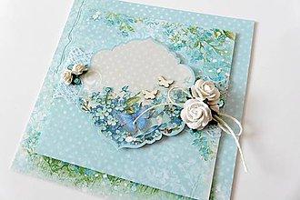 Papiernictvo - pohľadnica svadobná - 7039942_