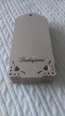 Papiernictvo - Recy menovky / visačky na darčeky so srdiečkami - 7040349_