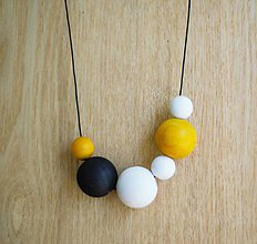 """Náhrdelníky - náhrdelník """"minimal 13""""- drevo maľované akrylom - 7039906_"""