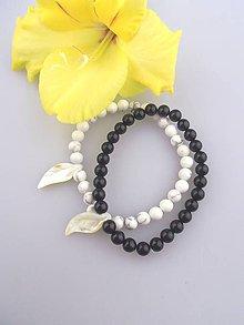 Náramky - ónyx magnezit perleť partnerské náramky - 7040361_