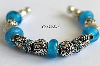 Náramky - Náramok Pandora Blue Bubbles - 7040600_