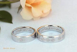 Prstene - obrúčky Žilina - rhodiované - 7041749_