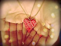 Náhrdelníky - Srdce na dlani - 7039966_